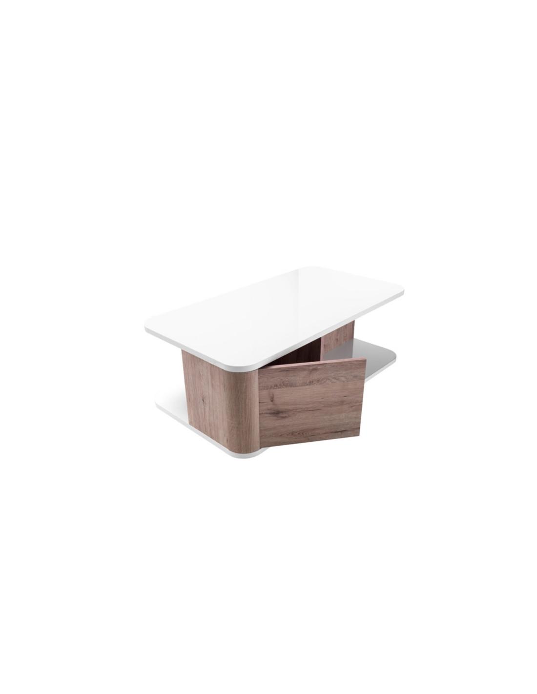 Table Basse Bellini Decor Chene Blanc Table Basse But