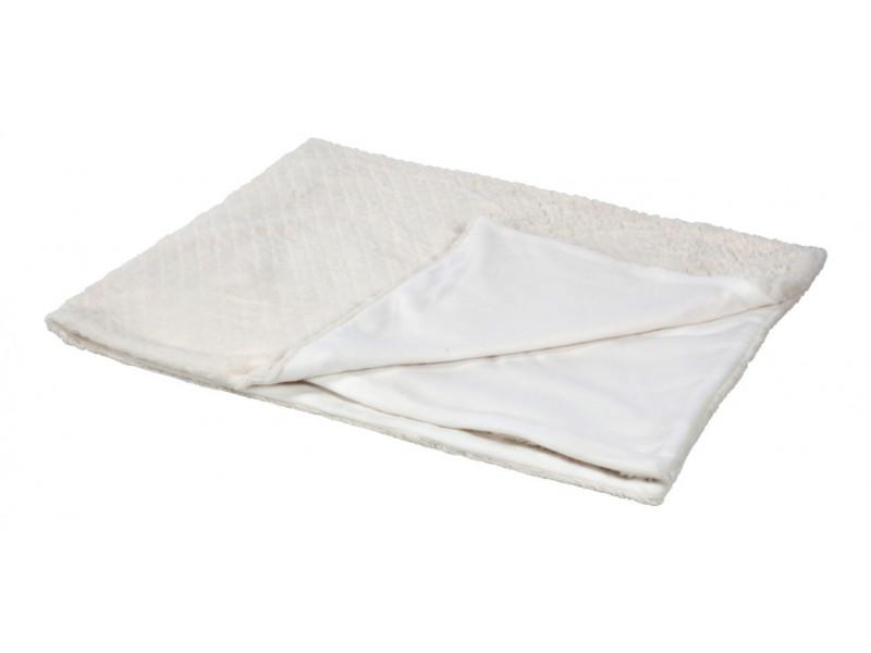 Plaid 125x170 cm BLANC NATURE Blanc