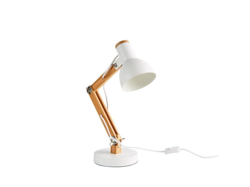 Lampe de bureau PIXIE Blanc/bois