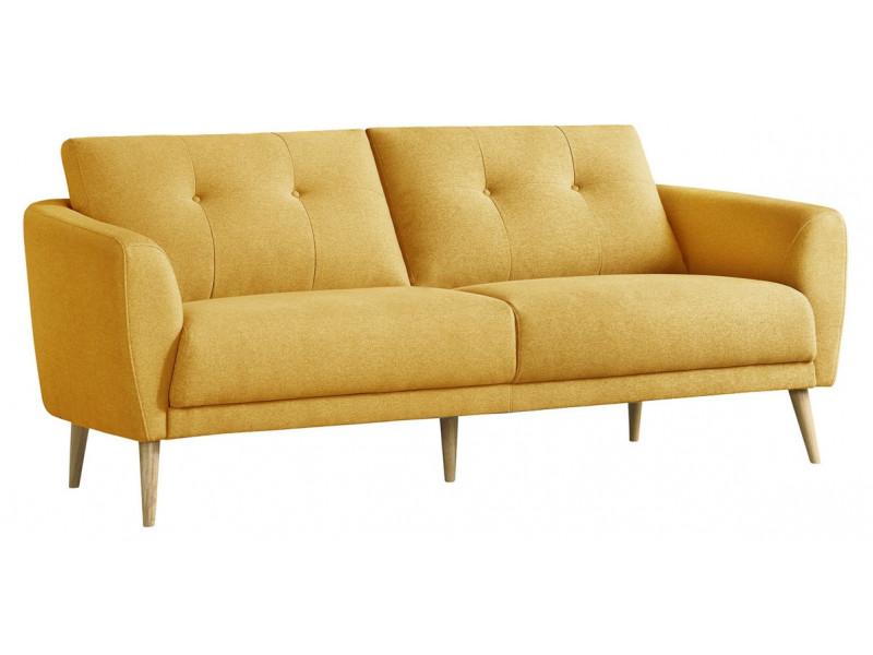 Canapé 3 places ZOE tissu jaune