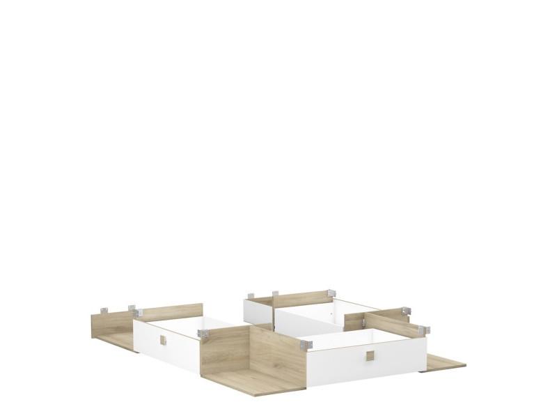 Kit 3 tiroirs 4 niches HEVA imitation...