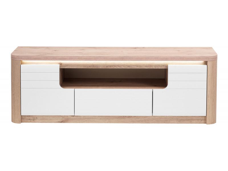 meuble tv l 170 cm bellini decor chene blanc