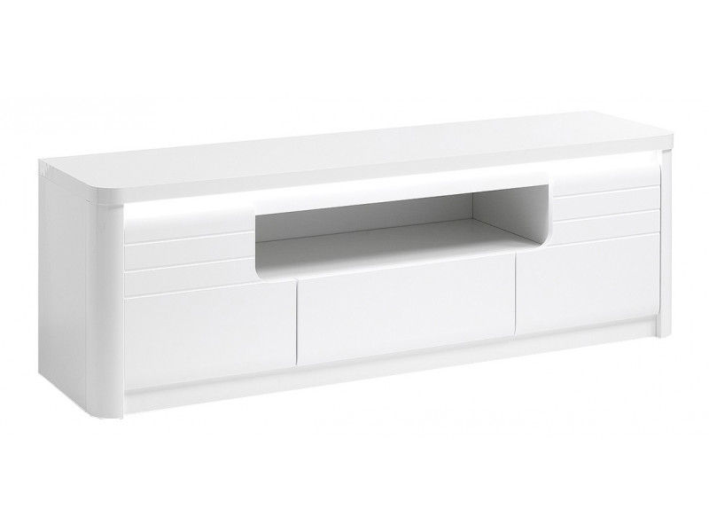 Meuble TV L.170 cm BELLINI décor blanc