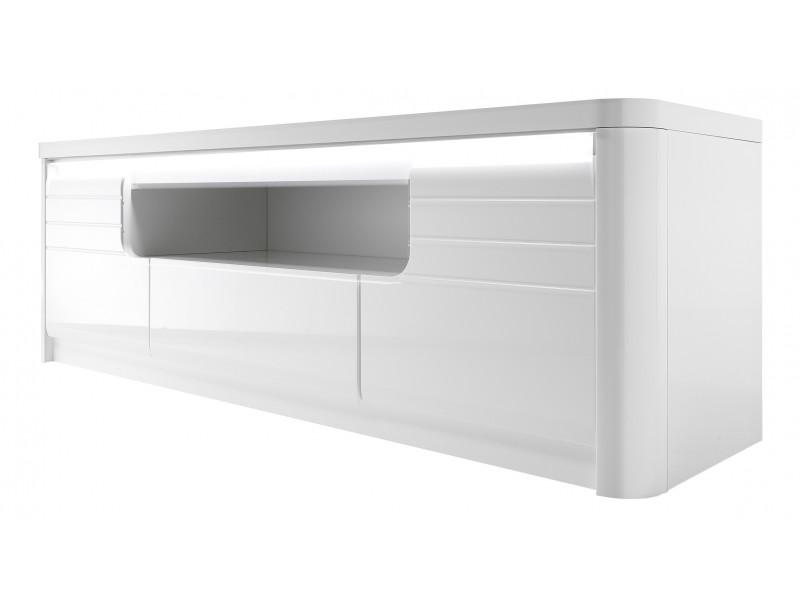 meuble tv l 170 cm bellini decor blanc