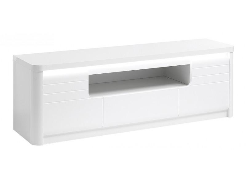 Meuble TV L.150 cm BELLINI décor blanc