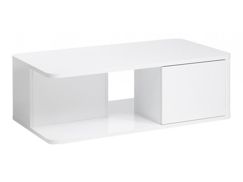 Table basse BELLINI décor blanc