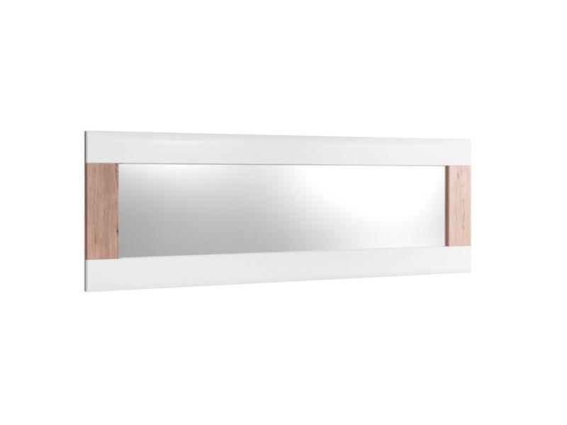 Miroir BELLINI décor blanc/chêne